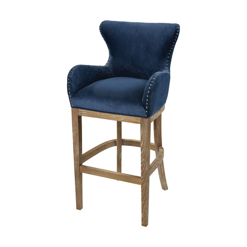 "43"" ELK Home Roxie Navy Bar chair, Transitional - 1"