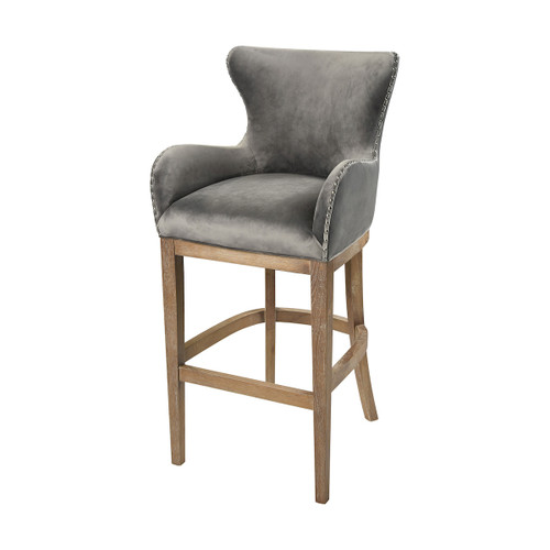 "43"" ELK Home Roxie Grey Bar chair, Transitional - 1"