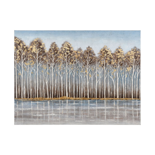 """47"""" ELK Home Low Country Wall Decor in Blue and Brown, Transitional - 1"""