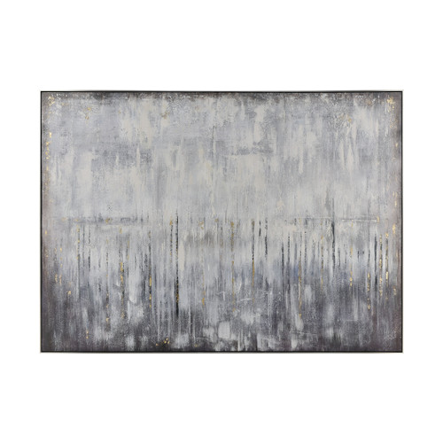 """72"""" ELK Home Artificial Abstract Wall Decor in Grey and White, Modern / Contemporary - 1"""