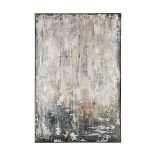 """72"""" ELK Home Flowing Abstract Wall Decor in Brown and Grey, Modern / Contemporary - 1"""