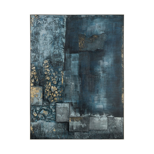 """80"""" ELK Home Sink Hole Wall Decor in Teal and Blue, Modern / Contemporary - 1"""