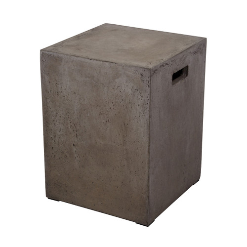 "18"" ELK Home Squared Concrete Stool, Transitional - 1"