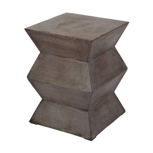 """18"""" ELK Home Fold Cement Stool, Transitional - 1"""