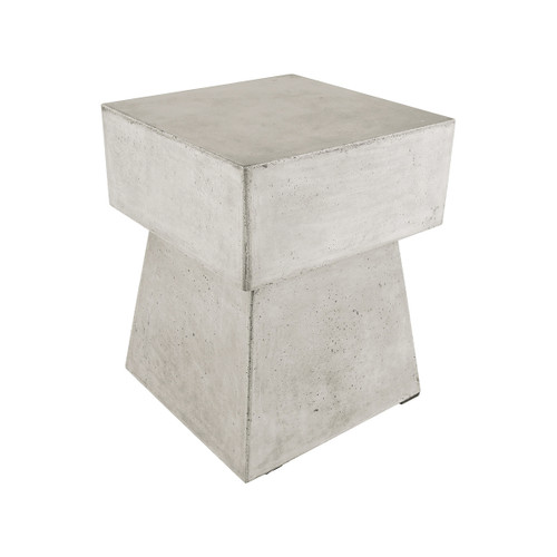 "18"" ELK Home Mushroom Stool in Polished Concrete, Transitional - 1"