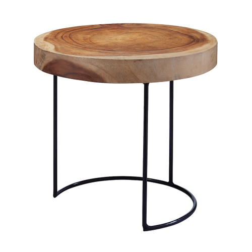 "17"" ELK Home Suar Wood Table, Transitional - 1"