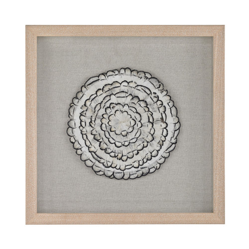 "16"" ELK Home Feather Swirl Wall Decor, Transitional - 1"