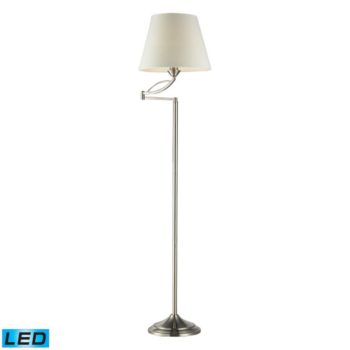 "56"" ELK Home Elysburg Floor Lamp in Satin Nickel - LED, Traditional - 1"
