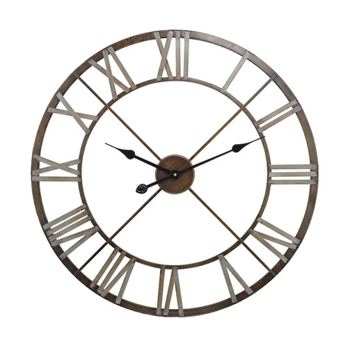 "27"" ELK Home Open Centre Iron Wall Clock., Traditional - 1"