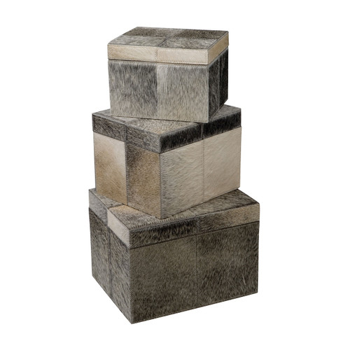 """7"""" ELK Home S/3 Nested Faux Pony Boxes, Transitional - 1"""