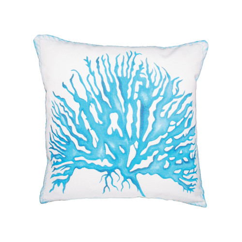 "20"" ELK Home Coral Rope Hand-painted Outdoor Pillow, Transitional - 1"