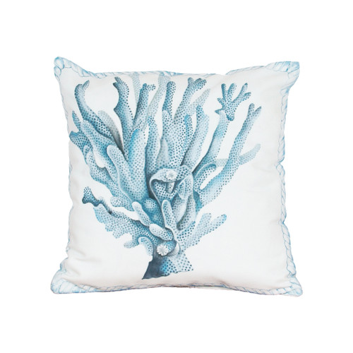 "20"" ELK Home Coral Hand-painted Outdoor Pillow, Transitional - 1"