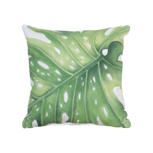 "20"" ELK Home Leaf 1 Hand-painted Outdoor Pillow, Transitional - 1"