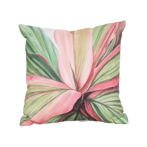 "20"" ELK Home Leaf 6 Hand-painted Outdoor Pillow, Transitional - 1"