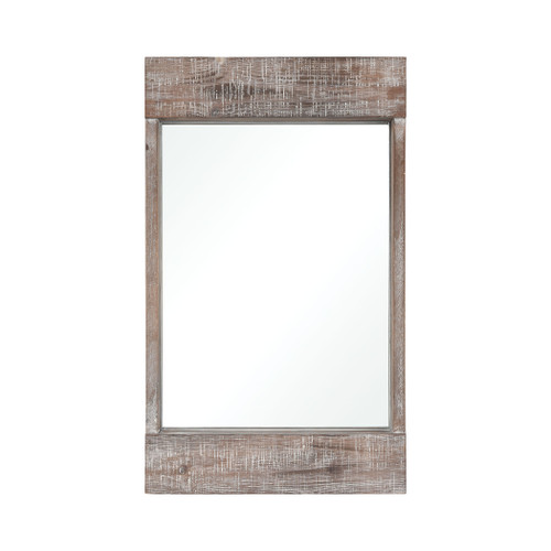 """20"""" ELK Home Dunluce Mirror in Natural Fir Wood with White Antique, Transitional - 1"""