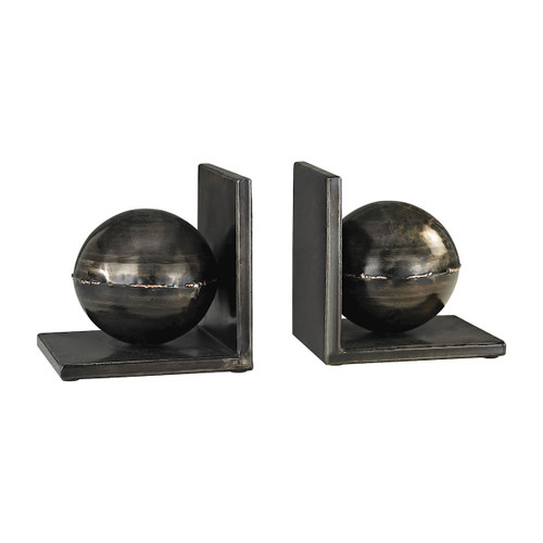 """Set of 2 ELK Home Fugue Bookends in Holmes Bronze, Modern / Contemporary 13"""" - 1"""