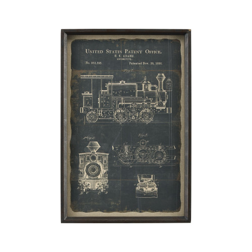 "24"" ELK Home Chronicle Framed Print - Locomotive, Traditional - 1"
