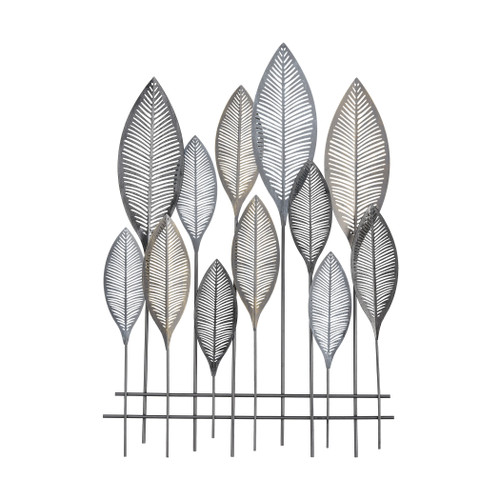 """39"""" ELK Home Iron gum Wall Decor in Aged Silver and Aged Pewter, Transitional - 1"""