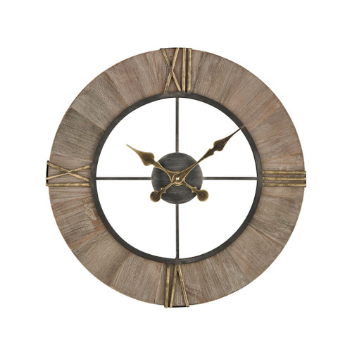 "24"" ELK Home Old Boy Wall Clocking Gray and Gold, Transitional - 1"