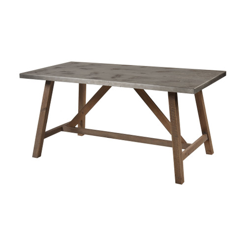 """63"""" ELK Home Perot Dining Table in Natural Wood and Concrete, Transitional - 1"""