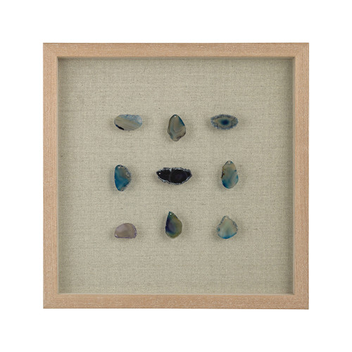 "17"" ELK Home Blue Agate Shadow Box, Transitional - 1"
