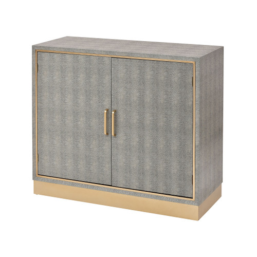"""35"""" ELK Home Sands Point 2-Door Cabinet in Grey and Gold, Modern / Contemporary - 1"""