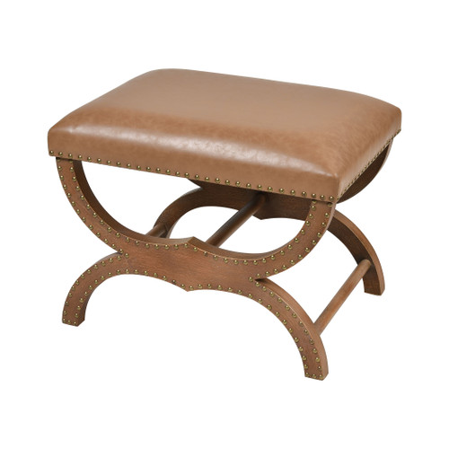 """24"""" ELK Home Bridle Single Bench in Brown, Transitional - 1"""