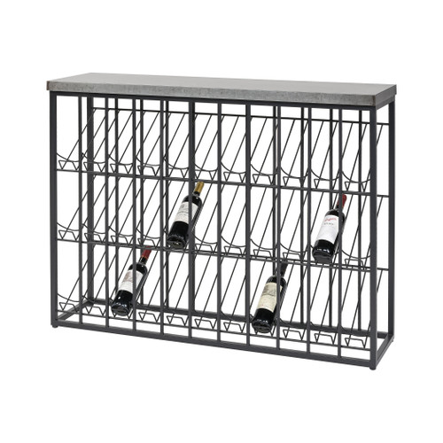 "47"" ELK Home Wavertree Wine Rack in Black and Galvanized Steel, Transitional - 1"