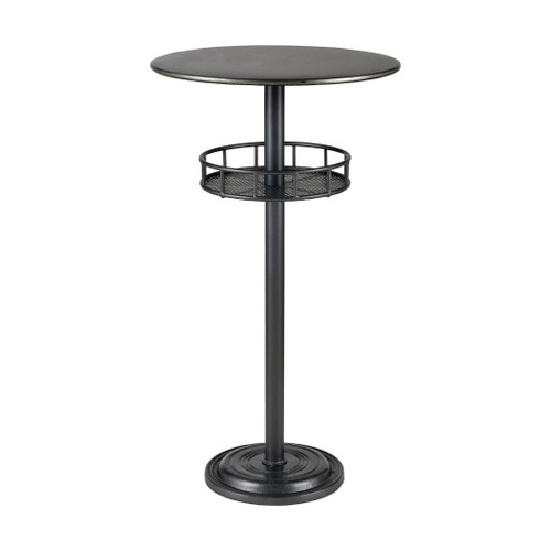 "41"" ELK Home Parton Bar Table in Dark Pewter and Galvanized Steel, Transitional - 1"