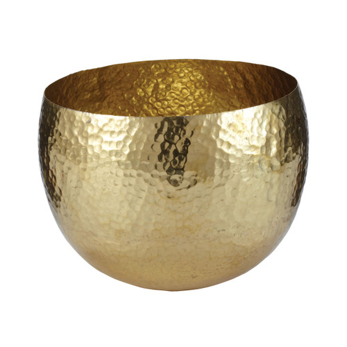 "10"" ELK Home Gold Hammered Brass Bowl - Small, Transitional - 1"