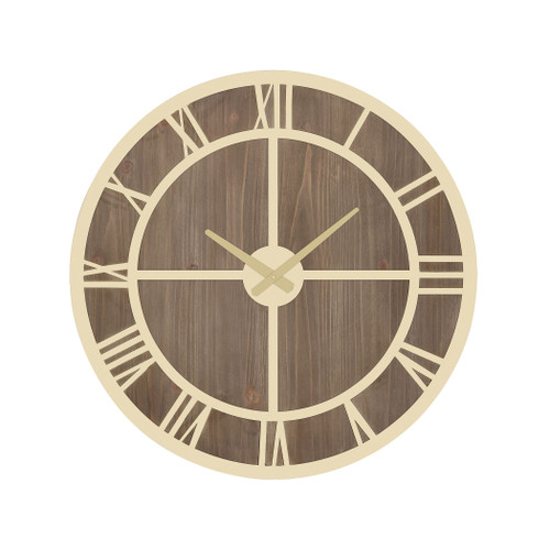 "22"" ELK Home Charlevoix Wall Clock, Transitional - 1"