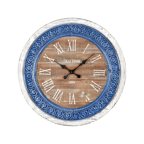 "30"" ELK Home County Cork Wall Clock, Transitional - 1"