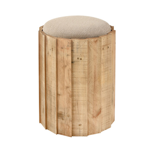 """19"""" ELK Home Aviation Stool in Natural Wood and Natural Linen, Transitional - 1"""
