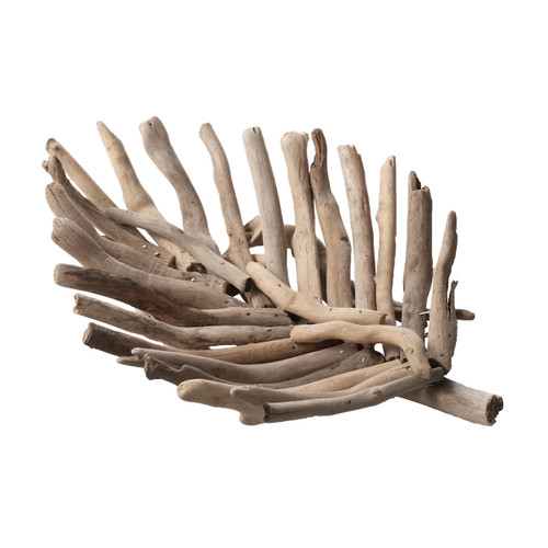 "12"" ELK Home Natural Driftwood Leaf Tray - Small, Transitional - 1"