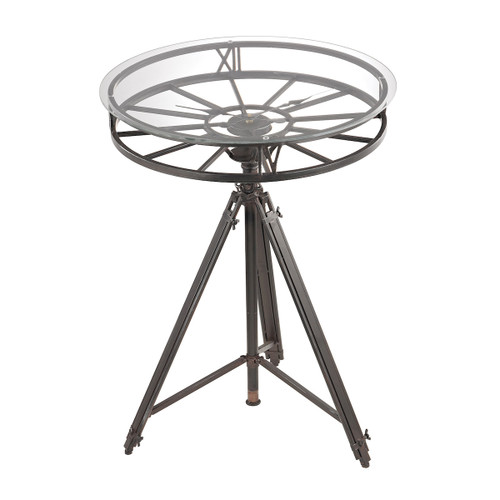 "28"" ELK Home Tripod Clock Table, Transitional - 1"