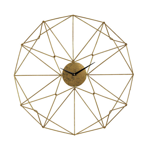"24"" ELK Home Angular Wirework Wall Clock, Modern / Contemporary - 1"