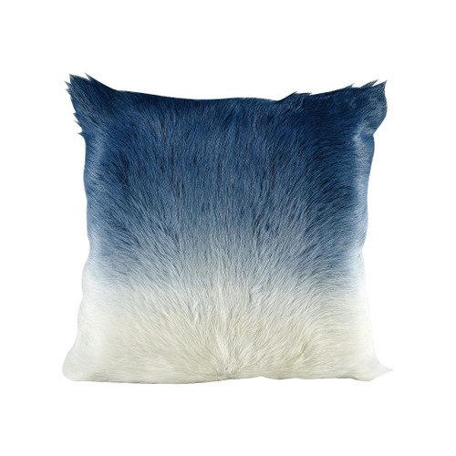 "20"" ELK Home Bareback Pillow - Blue to Ivory, Transitional - 1"