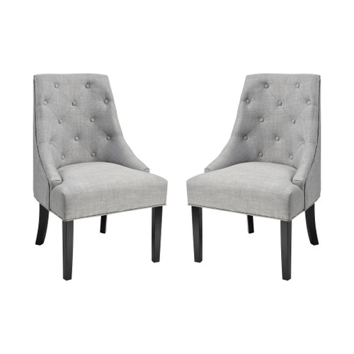 "39"" ELK Home Nine Elms Accent Chair - Light Grey, Transitional - 1"