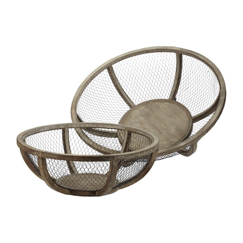 """27"""" ELK Home S/2 Wire Atlas Bowls, Transitional - 1"""