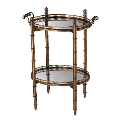 "32"" ELK Home Tyrella Gold Tray Table, Traditional - 1"