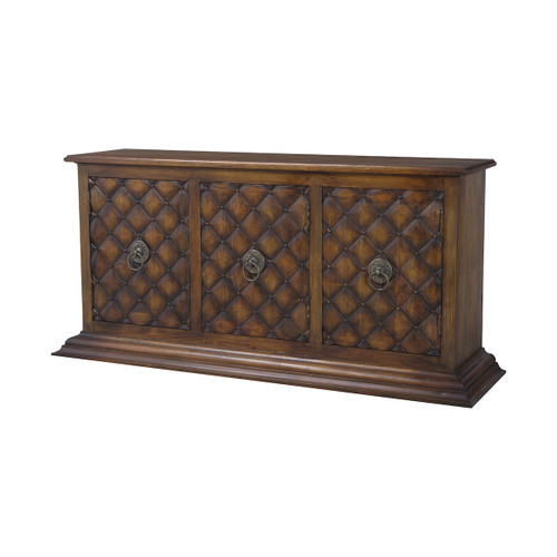 """68"""" ELK Home Carved Credenza in New Signature Stain, Traditional - 1"""