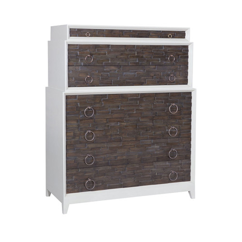 """52"""" ELK Home Houston 7-Drawer Dresser with Heritage Grey Dark Stained Drawer Fronts, Transitional - 1"""
