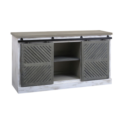 """60"""" ELK Home Coastal 2-Door Credenza with Sliding Weathered Shutters, Traditional - 1"""