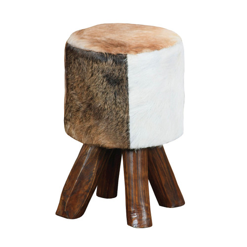 """18"""" ELK Home STOOL, Traditional - 1"""