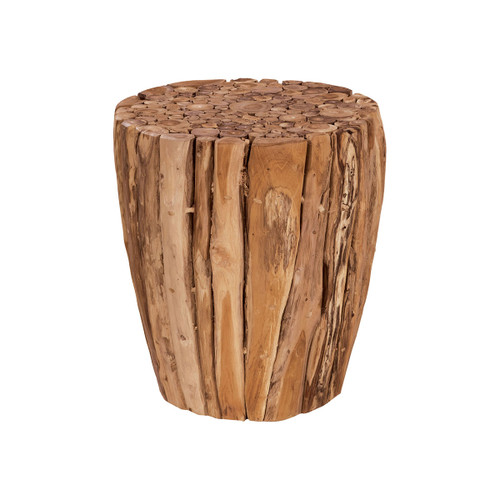 "19"" ELK Home Teak Branch Stool, Traditional - 1"