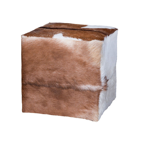 "18"" ELK Home GOAT HIDE OTTOMAN, Traditional - 1"