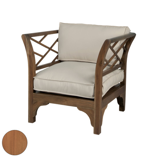 "34"" ELK Home Teak Patio Chair in Euro Teak Oil, Traditional - 1"