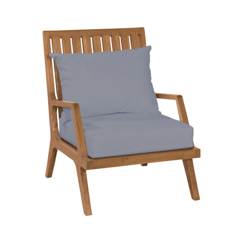 "36"" ELK Home Teak Patio Lounge Chair in Euro Teak Oil, Transitional - 1"