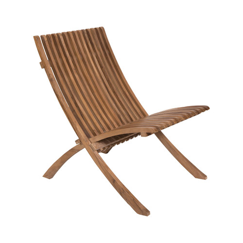 "39"" ELK Home Teak Folding Chair, Modern / Contemporary - 1"