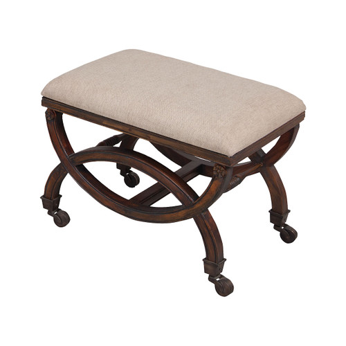 """24"""" ELK Home Single Arc Bench in Woodland Dark Stain, Traditional - 1"""